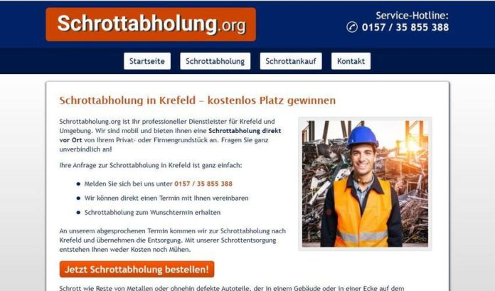 image 1 309 696x409 - Schrottabholung Krefeld – zu jeder Zeit möglich