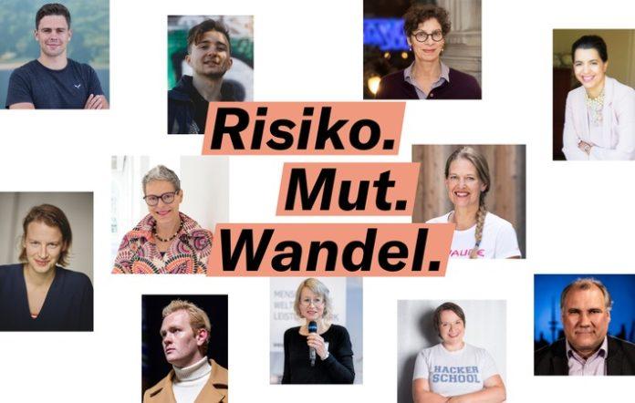 Teaser Collage Zukunftsarena 696x442 - Risiko. Mut. Wandel. - Diskutieren Sie mit Karliczek, Löwentraut, Röser, Paech und vielen anderen