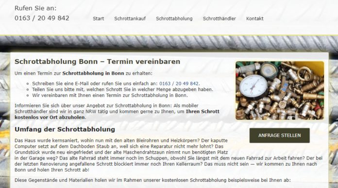 image 1 142 696x388 - Schrottabholung Bonn : Komplizierte Schrottdemontagen führen Schrotthändler aus Bonn