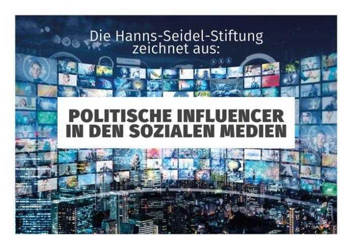 """HSS Influencer MedienPreis 2021JPG 1 696x492 - Neuer """"Preis für Politische Influencer in den Sozialen Medien"""" / Hanns-Seidel-Stiftung verleiht Auszeichnung auf den Münchner Medientagen 2021"""