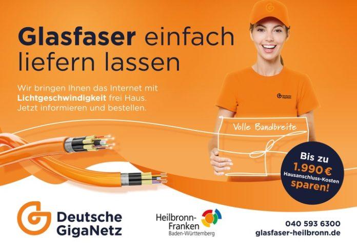 Regional LK Heilbronn 696x492 - Eines der größten eigenwirtschaftlichen Glasfaserprojekte Deutschlands startet mit der Deutschen GigaNetz als Partner / Ab 5. Juli beginnt in den ersten Kommunen bereits die Vermarktungsphase