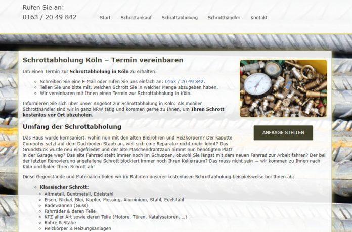 image 1 21 696x459 - Schrottabholung Köln: Schrott Sammlung Ihr Partner für Schrottabholung, Schrott Demontage und Schrott Ankauf