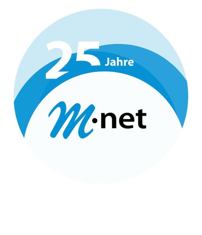 """m net 25 Jahre Signet kreis RGB 696x808 - M-net bietet bis zu 120 Euro Jubiläumsrabatt auf Doppel-Flatrates / Sonderaktion zum Jubiläum """"25 Jahre M-net"""""""