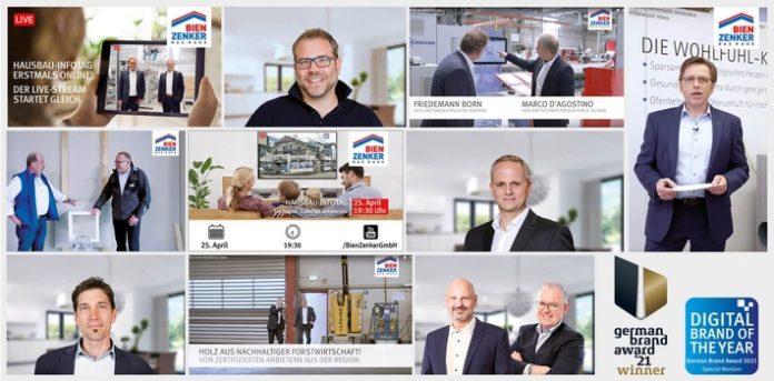 Bien Zenker Hausbau Infotag GBA 696x343 - Entschlossenes Handeln beschert Bien-Zenker zweifache Auszeichnung beim German Brand Award 2021 / Neue digitale Formate und Kommunikationsangebote stärken Bien-Zenker als Marke