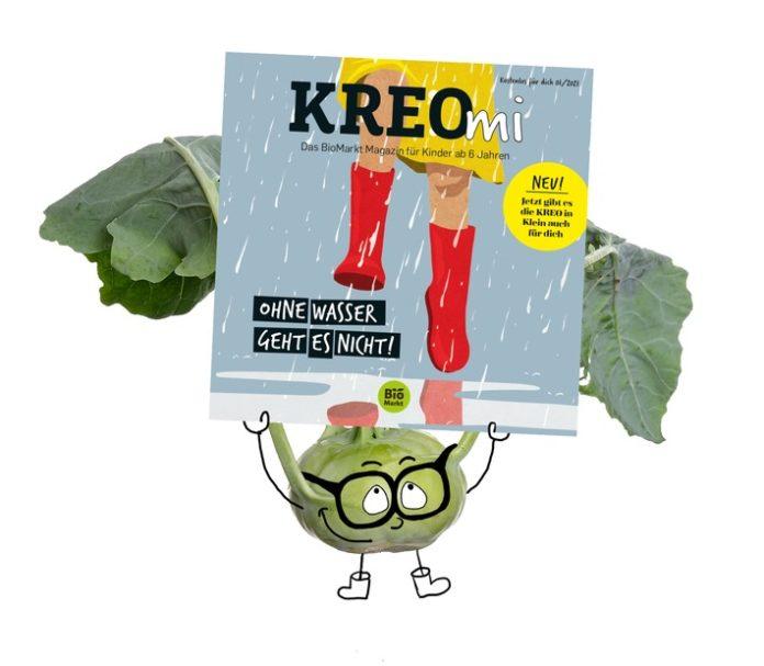 """Enrico20haelt20KREOmi 696x607 - """"KREOmi"""" kommt / BioMarkt Verbund bringt erstes Bio-Magazin für Kinder heraus"""