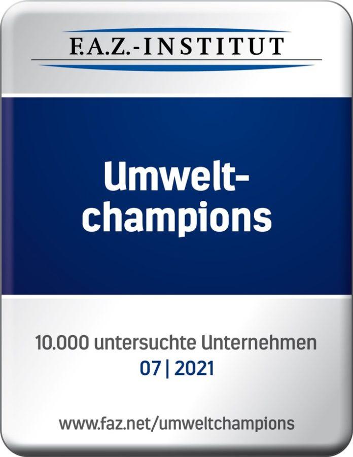Kaufland FAZ Siegel Umweltchampion 696x901 - Prädikat für Nachhaltigkeit - Kaufland ist Umweltchampion