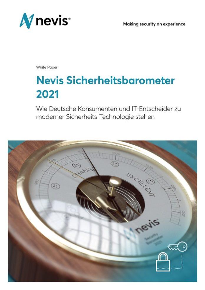 Nevis 20Sicherheitsbarometer202021 696x984 - Informationsdefizite bei deutschen IT-Entscheidern / Das Nevis Sicherheitsbarometer zeigt, wo sich bei IT-Entscheidern und Kunden Verbesserungspotenziale in puncto Datensicherheit heben lassen
