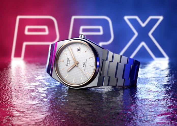 Tissot PRX20Powermati0 PR UVPEuro690 696x497 - Stylisch durch den Sommer: Tissot PRX Uhr im Retrodesign / Gestern und heute eine Ikone