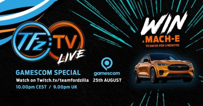 image 1 92 696x365 - Team Fordzilla mit eigener Show live zur virtuellen Gamescom 2021 - Ford Mustang Mach-E GT zu gewinnen