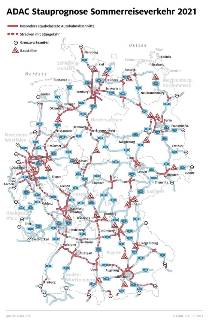 stau sommer21 2 696x1072 - Beschwerlicher Heimweg aus dem Urlaub / Die Staus in Richtung Süden schrumpfen / Stauprognose für 20. bis 22. August