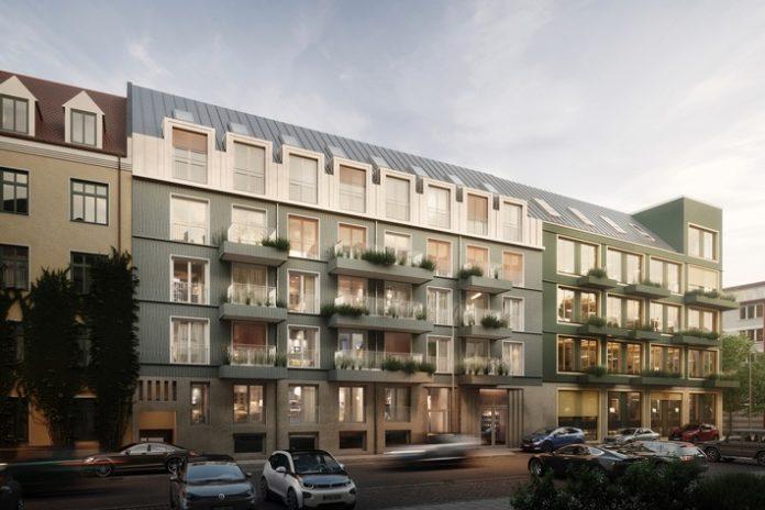 01 VINZENT Exterior nen c20Bauwerk 696x464 - Bauwerk startet Vertrieb von 56 Eigentumswohnungen im neuen Münchner Projekt VINZENT