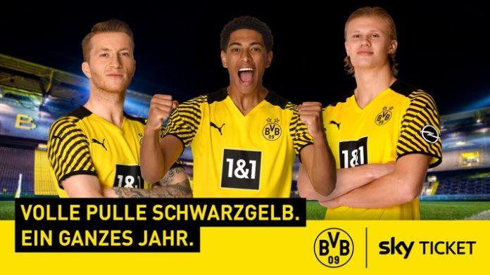 169134 123 Sky Ticket BVB KV 16 9 K3 696x391 - Volle Pulle Schwarzgelb: Sky Deutschland und Fußball-Bundesligist Borussia Dortmund starten eine umfassende und langfristige Kooperation