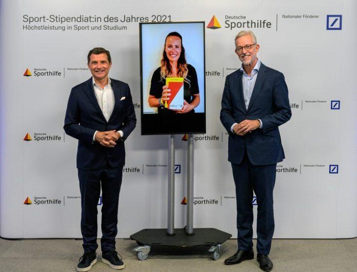 2021 Sport Stipendialemann von Rohr 696x532 - Kitesurferin Leonie Meyer ist Sport-Stipendiatin des Jahres 2021