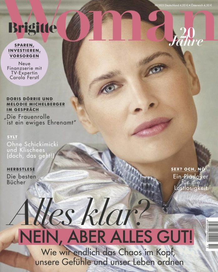 """BRIGITTE20WOMAN Cover10 2021 696x868 - Doris Dörrie: """"Eigentlich ist die Frauenrolle ein ewiges Ehrenamt."""""""
