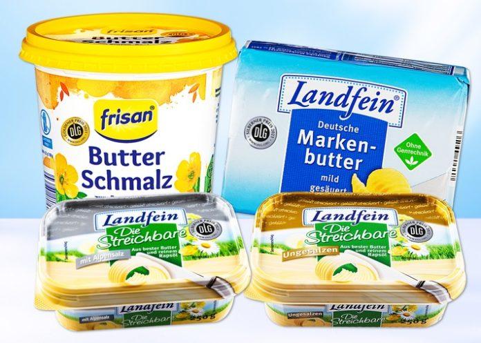 Butter Pressebild hell 696x497 - NORMA senkt die Preise für Butter im September um bis zu neun Prozent / Verschiedene Butterprodukte und Butterschmalz in den Regalen des Lebensmittel-Discounters reduziert