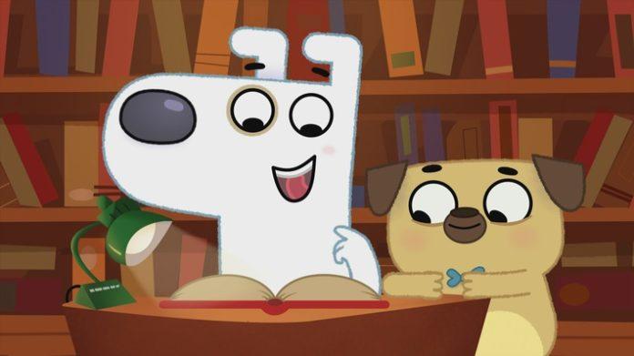 """Der20wunderliche20Buch20Dog20und20Puck201 696x391 - Weil in jedem Buch ein Abenteuer steckt: Neue KiKA-Animationsserie für Leseanfänger*innen / """"Der wunderliche Buchladen von Dog und Puck"""" ab 5. September bei KiKA"""