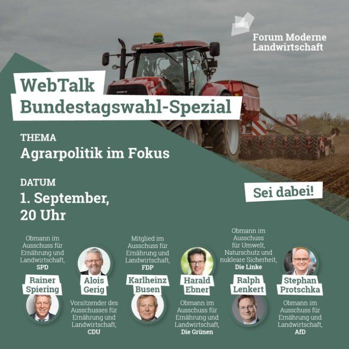 FML0565 daily 210819tagswahl square 696x696 - Agrarpolitik spielt wichtige Rolle bei Wahlentscheidung der Deutschen / Forum Moderne Landwirtschaft veranstaltet Politik-WebTalk