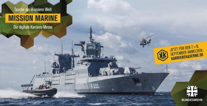 """Headerbild Karriereme MissionMarine 696x357 - """"Mission Marine"""" - Die erste maritime Karrieremesse der Bundeswehr im online Format"""