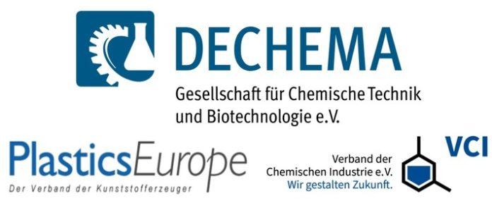 Logos20DECHEMA20VCI20PED 696x288 - Forschungspolitische Empfehlungen zum chemischen Kunststoffrecycling