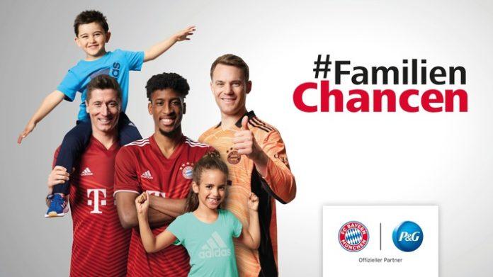 """PG FCB FamilienChanc 21 22 KV PM DE 696x391 - """"Es ist kinderleicht, es Kindern leicht zu machen"""": Procter & Gamble und der FC Bayern München setzen Zusammenarbeit beim gemeinnützigen Projekt #FamilienChancen fort"""