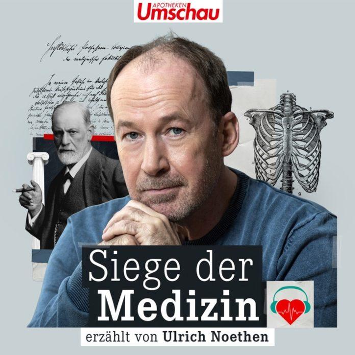"""Siege20der20Medizin20 20FINAL20303509 696x696 - Podcast-Charts: """"Siege der Medizin"""" mit Ulrich Noethen ist neuer Publikumsliebling"""