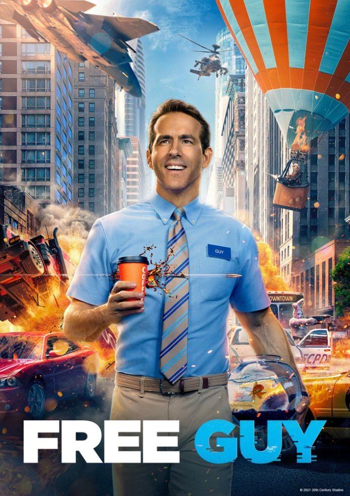 """Sky Free Guy 696x985 - Ryan Reynolds bricht aus: """"Free Guy"""" schon nächste Woche bei Sky und Sky Ticket"""