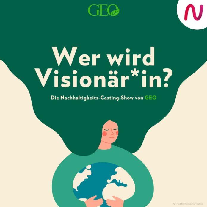 """WWV Kachel 696x696 - GEO startet neuen Nachhaltigkeits-Podcast """"Wer wird Visionär*in?""""- die erste Castingshow im Audioformat"""