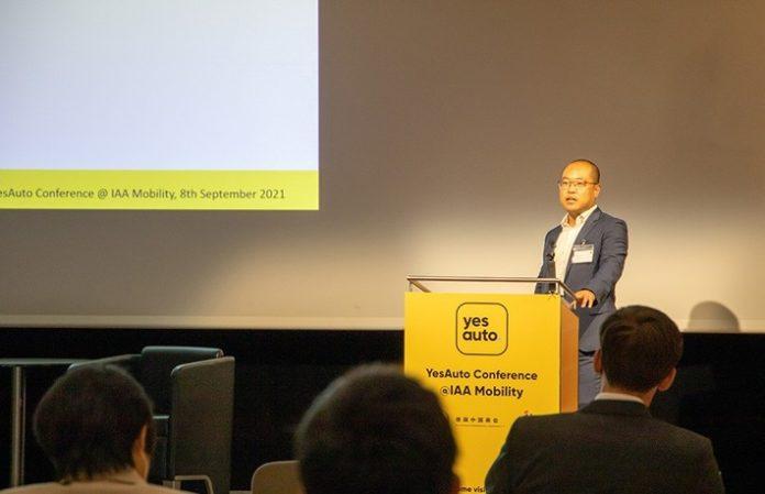YesAuto ExpertenkonfLiu YesAuto201 696x449 - Erfolgreiche YesAuto Experten-Konferenz auf der IAA/ Nachhaltigkeit und Nutzervorteile stehen in Zukunft klar im Fokus von E-Mobilität
